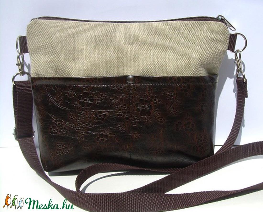b161bff190 MINI BAG:Kis táska lenvászonnal és virágos bőrrel MOST KEDVEZMÉNYES ÁRON!!!