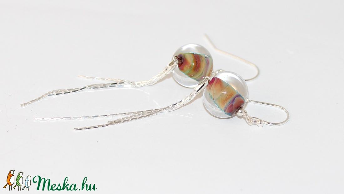 Rainbow lámpagyöngy fülbevaló (MoroBarbaraGlass) - Meska.hu