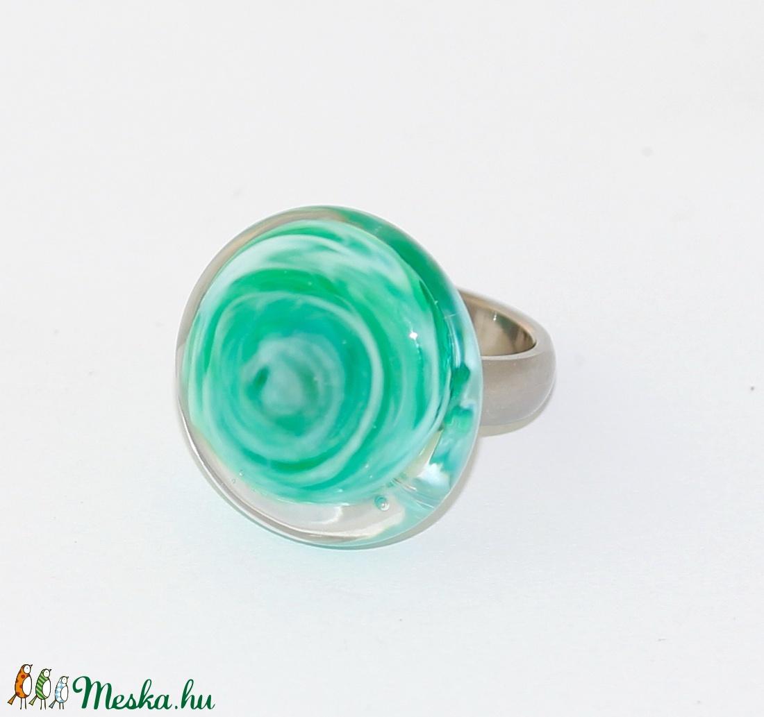 Minden napra egy gyűrű ! - karibizöld (MoroBarbaraGlass) - Meska.hu