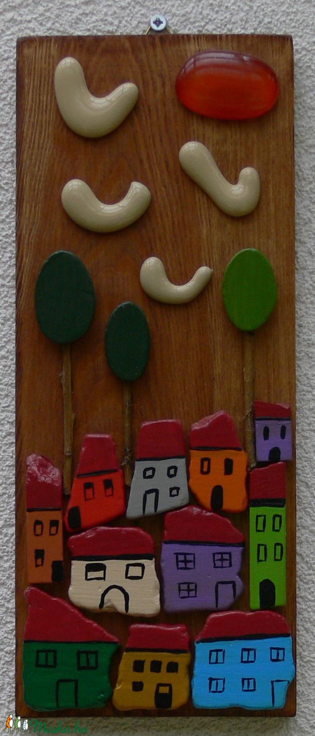 Városka - otthon & lakás - dekoráció - táblakép - Meska.hu