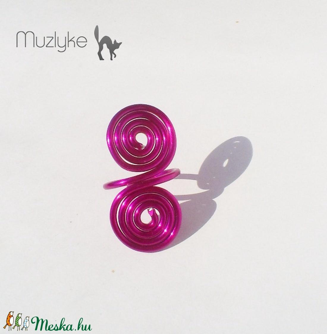 Pink csigás gyűrű-Akció! - ékszer - gyűrű - fonódó gyűrű - Meska.hu