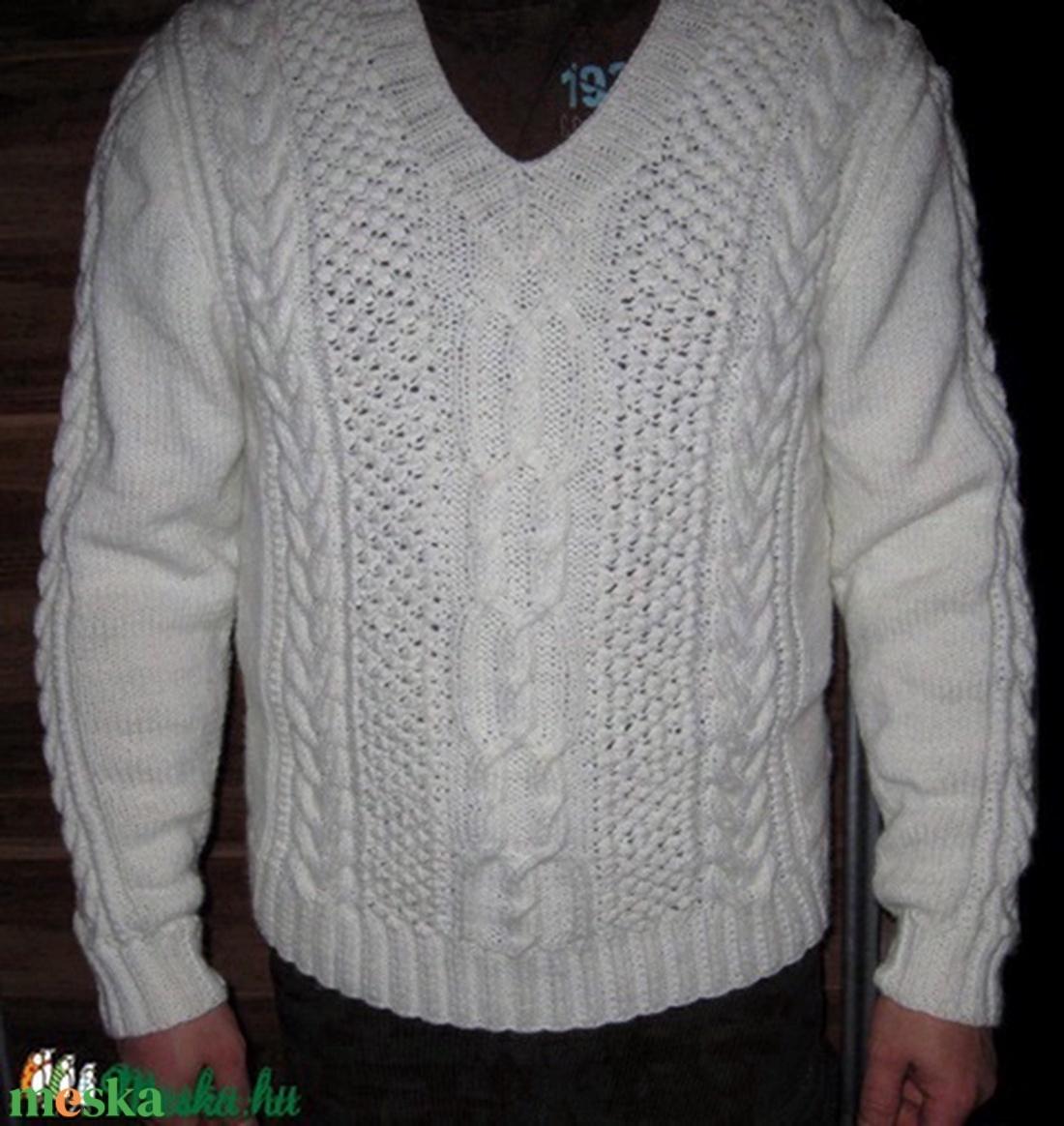 Elegáns férfi pulóver - Meska.hu