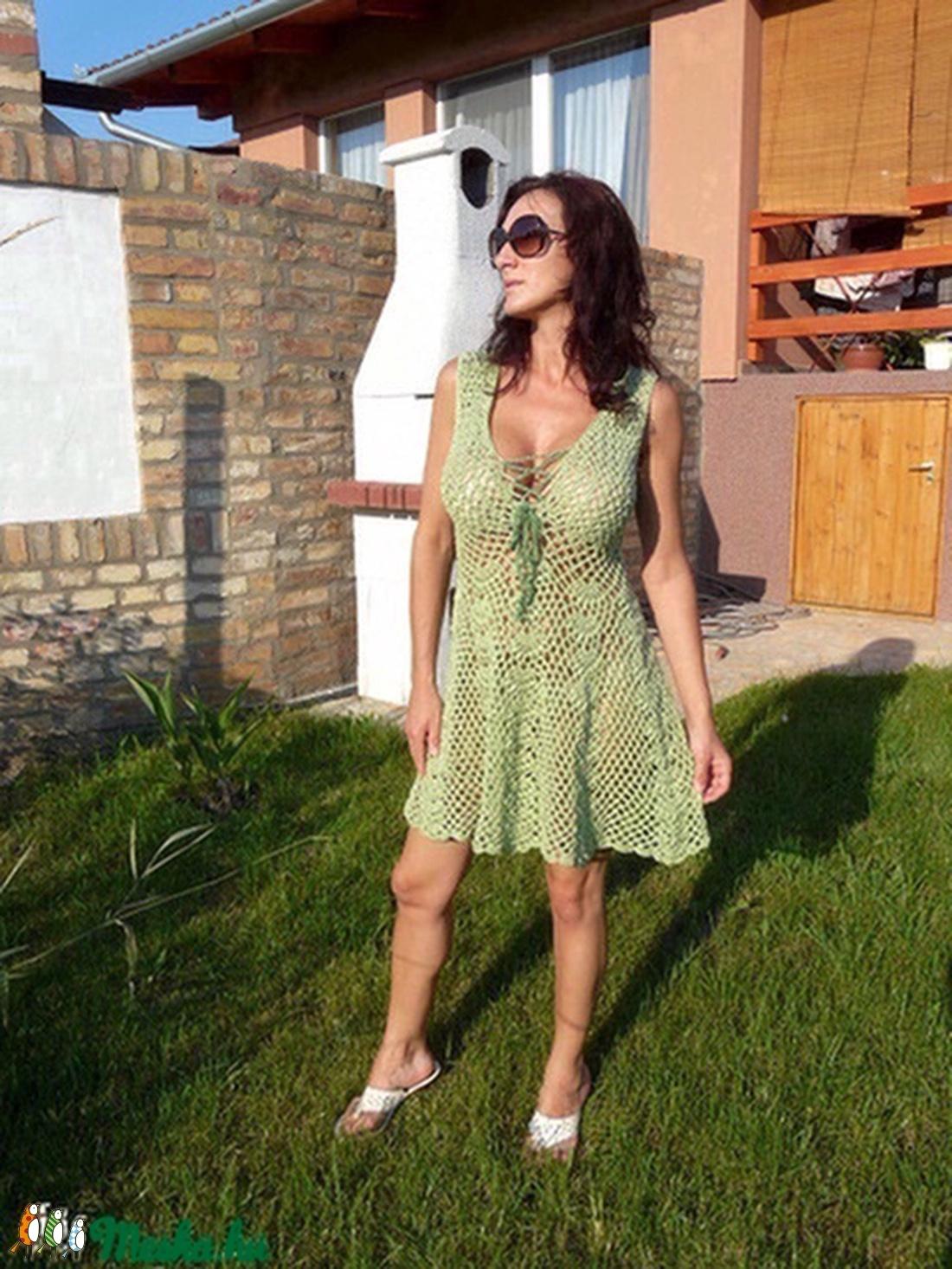 Tündéri almazöld ruha - ruha & divat - női ruha - ruha - Meska.hu