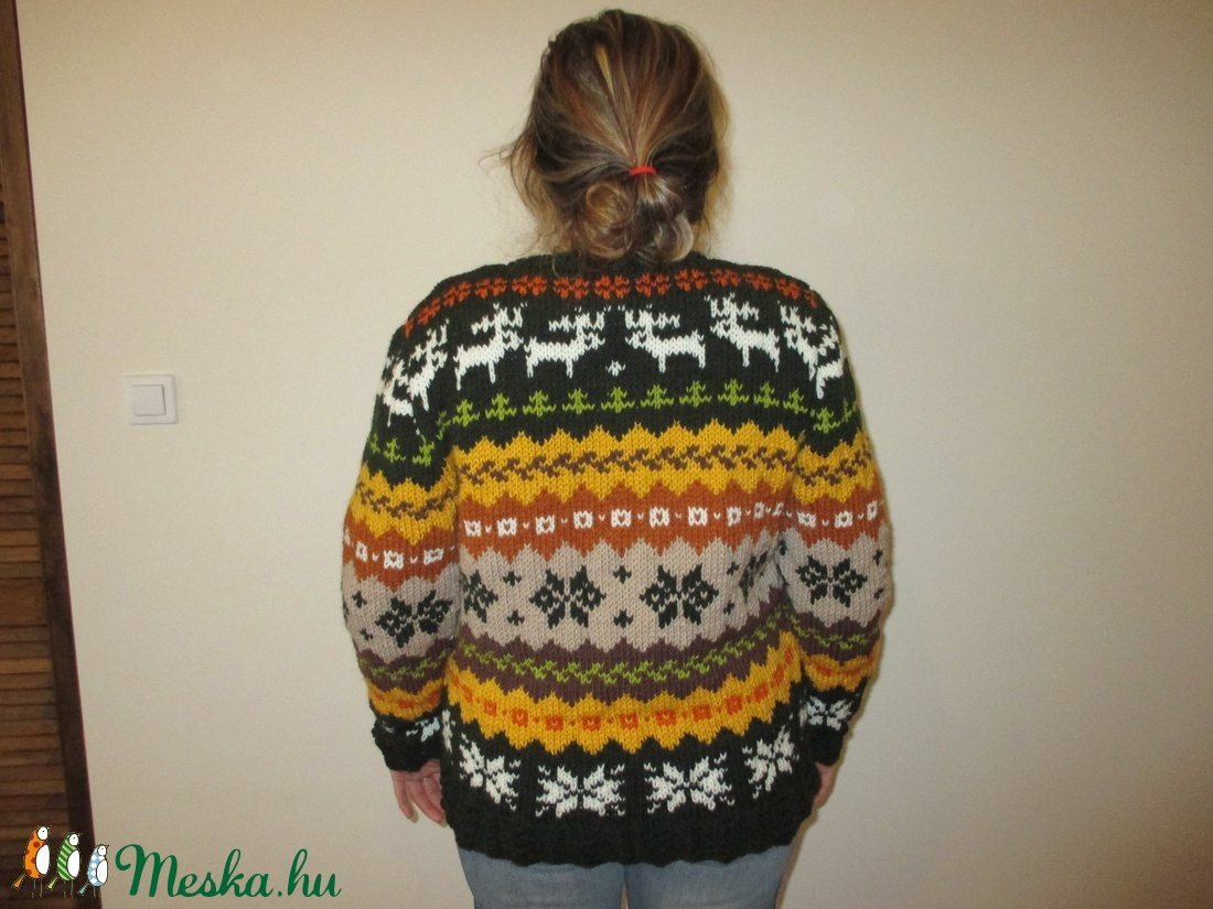 f11fc5009e ... Végig mintás norvég pulóver garbónyakkal (nagyikotodeje) - Meska.hu