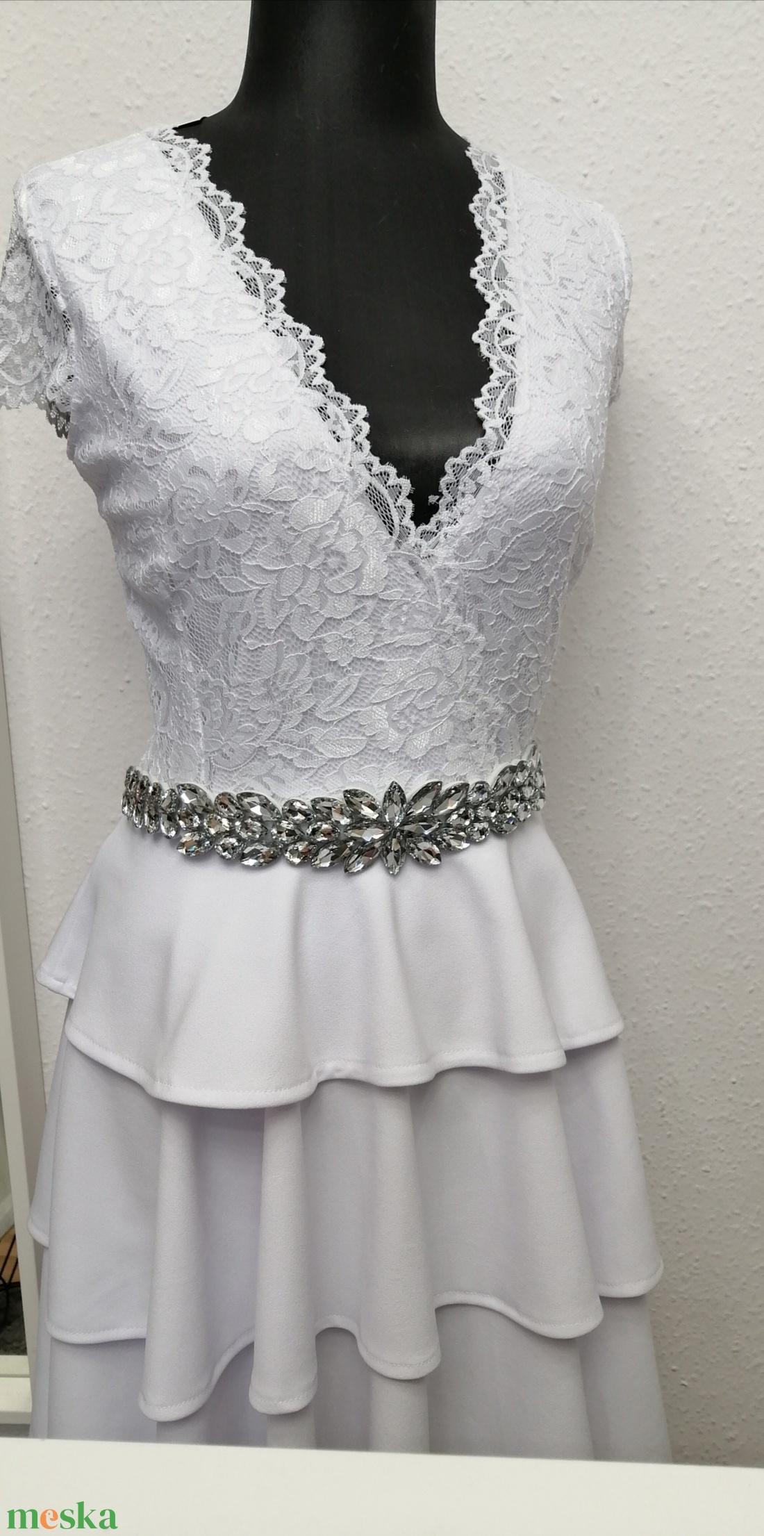 Csipke ruha fehér rugalmas csipkéből  (nagyilona) - Meska.hu