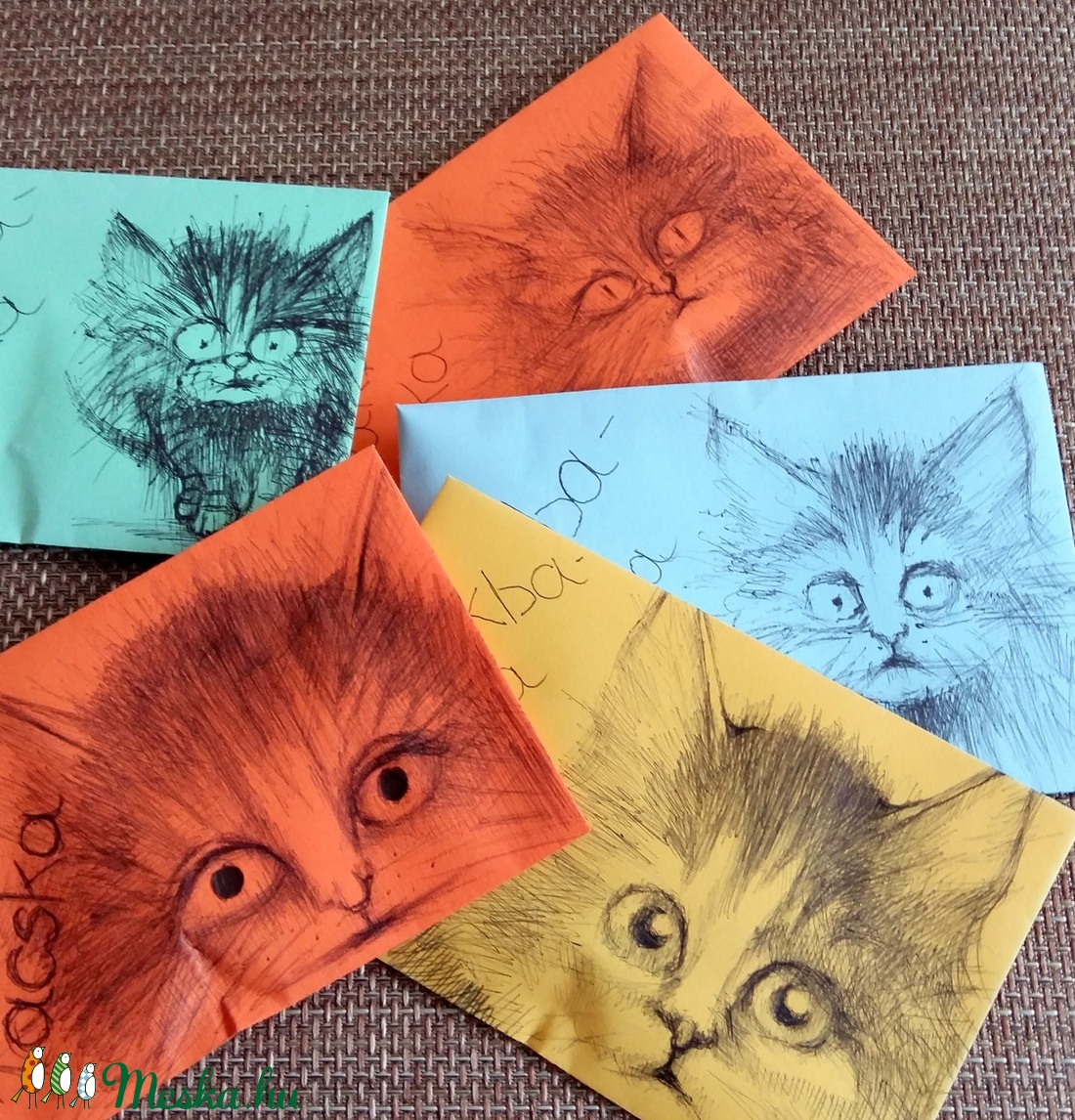 Zsákbamacsek csomag - rézdrót ajándék macskás borítékban (Nana83) - Meska.hu