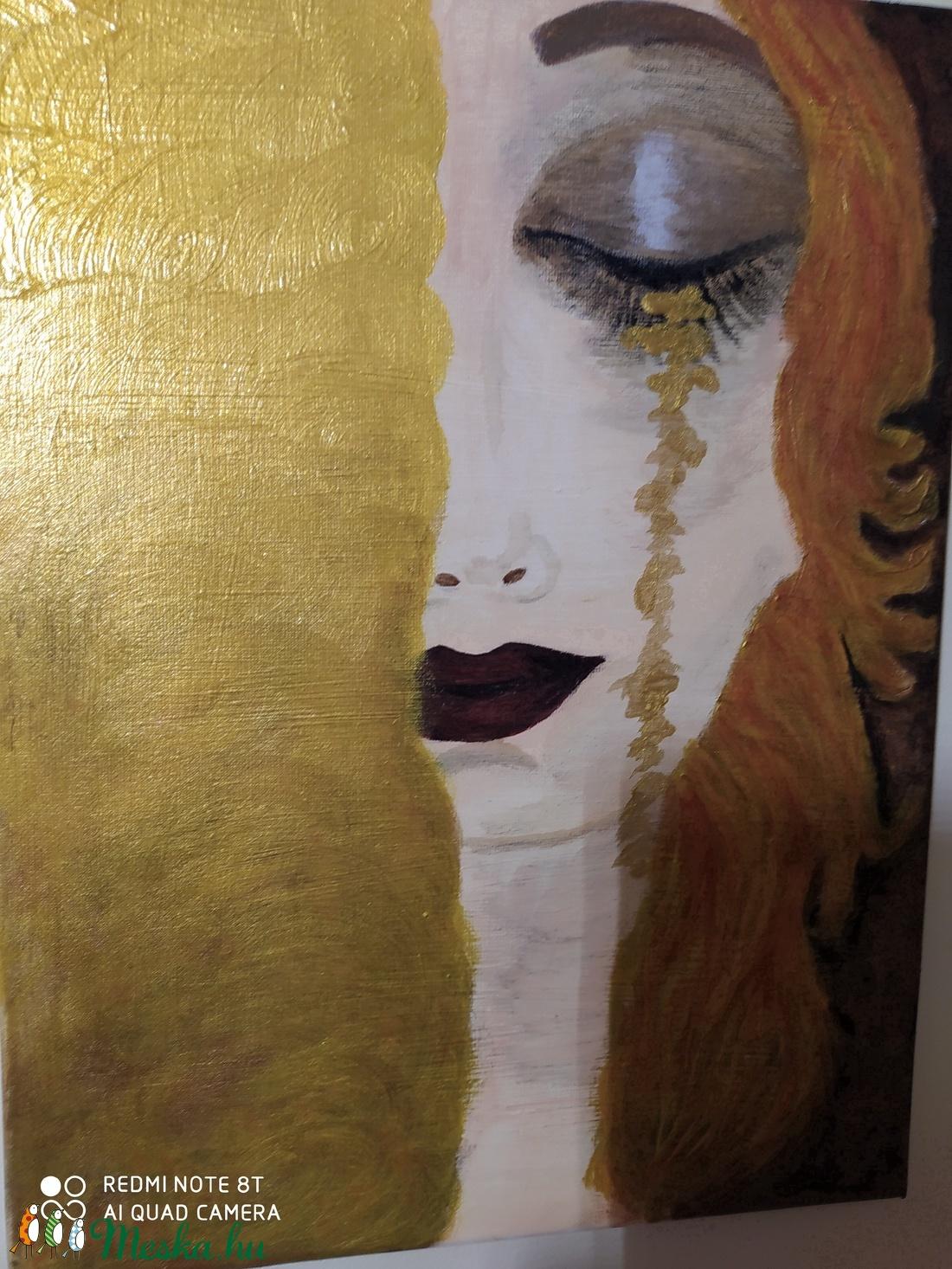 festmény GUSTAV KLIMT- ARANYKÖNNYEK gyönyörű képének reprodukciója (Nancy16) - Meska.hu