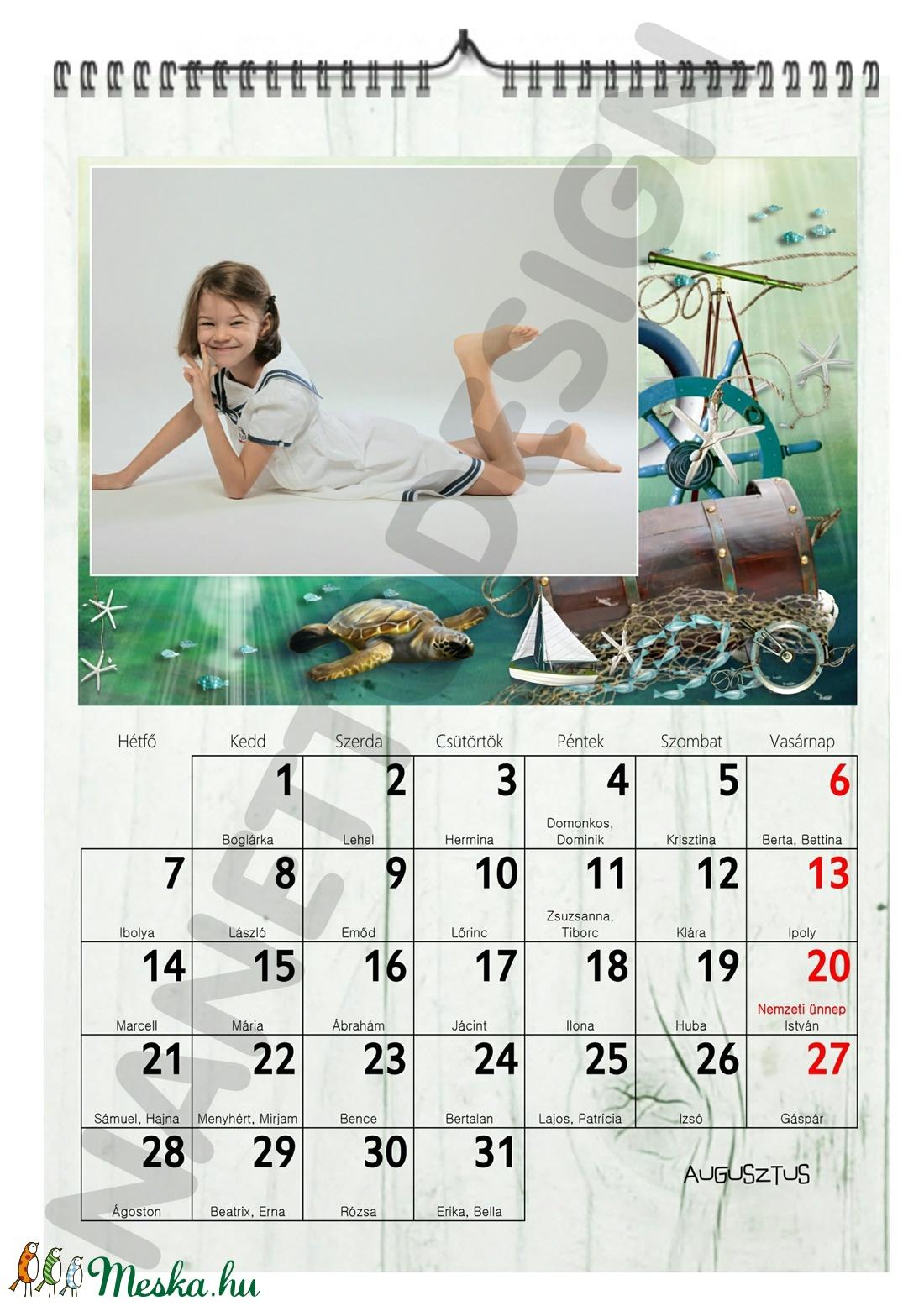 egyedi képes naptár Egyedi fényképes A4 es falinaptár kézzel rajzolt egyedi design  egyedi képes naptár