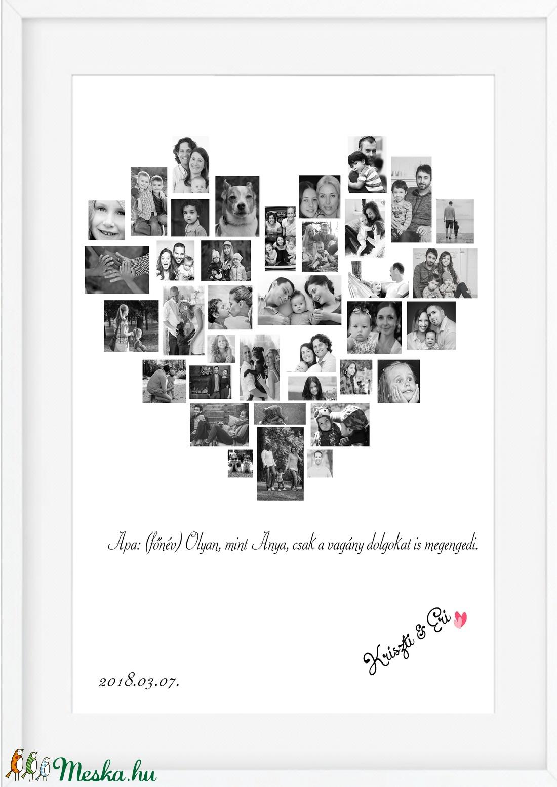 apák napja szülinapi poszter A3-as print egyedi fényképes kép fotó poszter  montázs örökkön örökké névtábla házszámtábla e9a1d54768