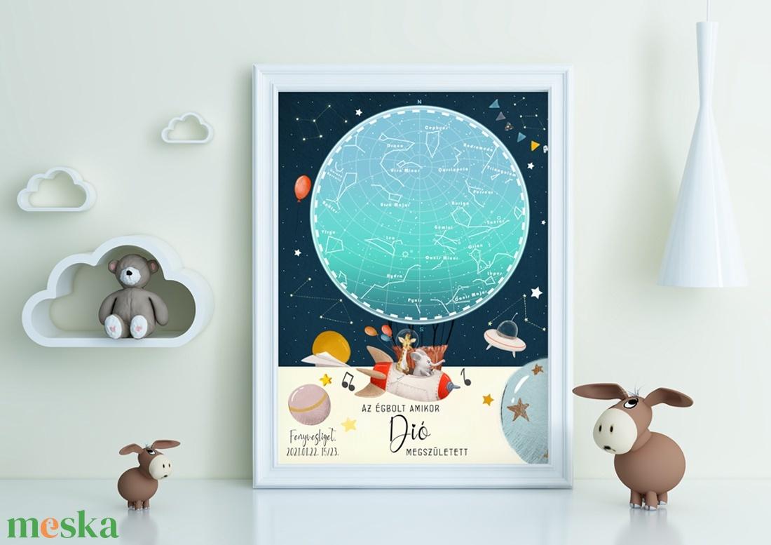 Csillagtérkép kisfiú baba kisbaba baby, Babaváró csillagkép térkép, Mérföldkő starmap égbolt falidekor emlékőrző egyedi - otthon & lakás - dekoráció - kép & falikép - Meska.hu