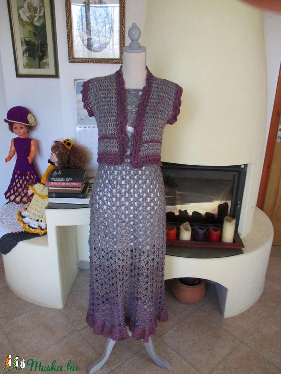 Térbeli mintás kis mellény kékes-lilás színben - ruha & divat - női ruha - mellény - Meska.hu