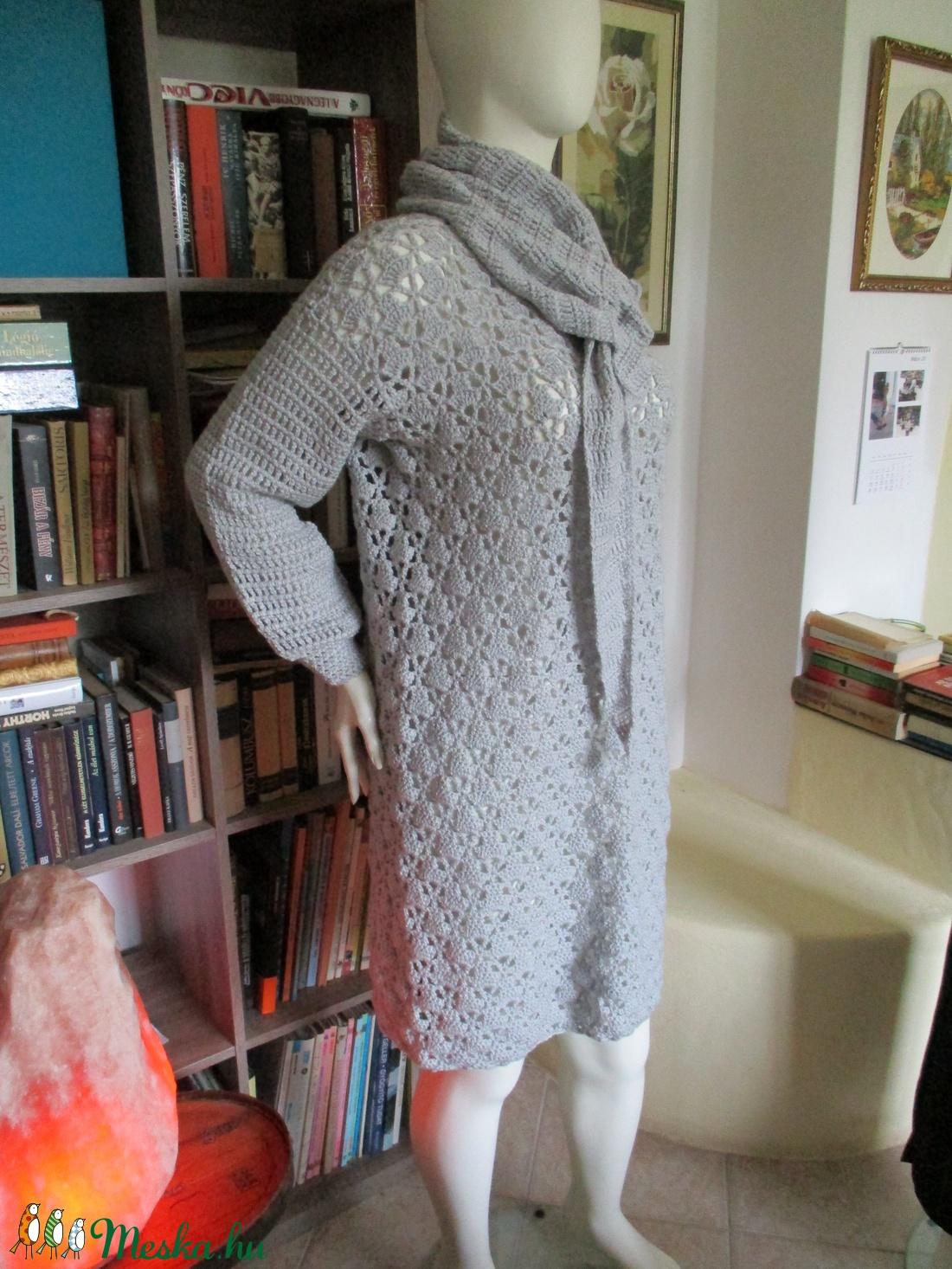 Ezüst színű horgolt női ruha - ruha & divat - női ruha - ruha - Meska.hu