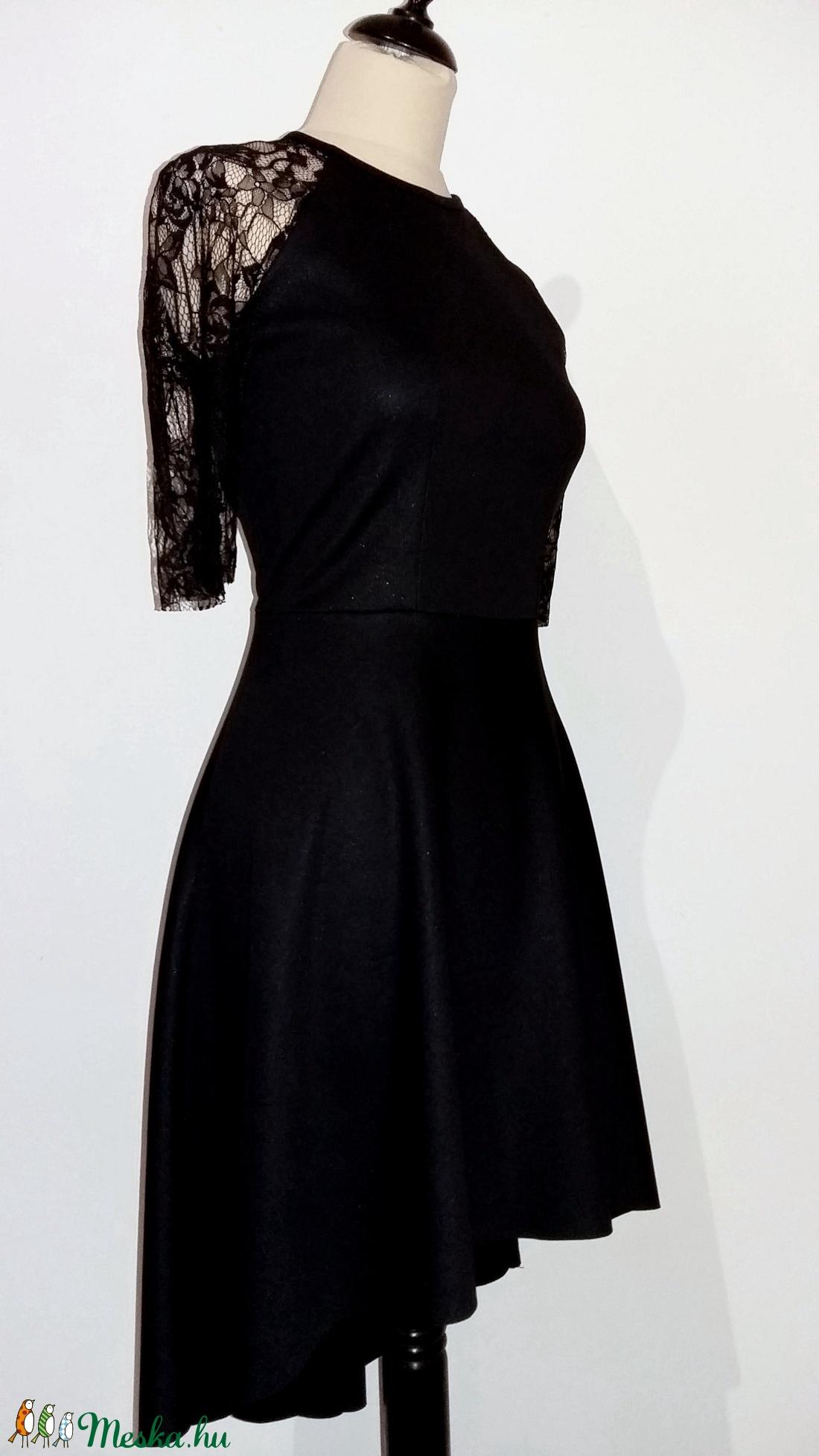Szolid fekete ruha (Naybel) - Meska.hu 148e9ab9ac