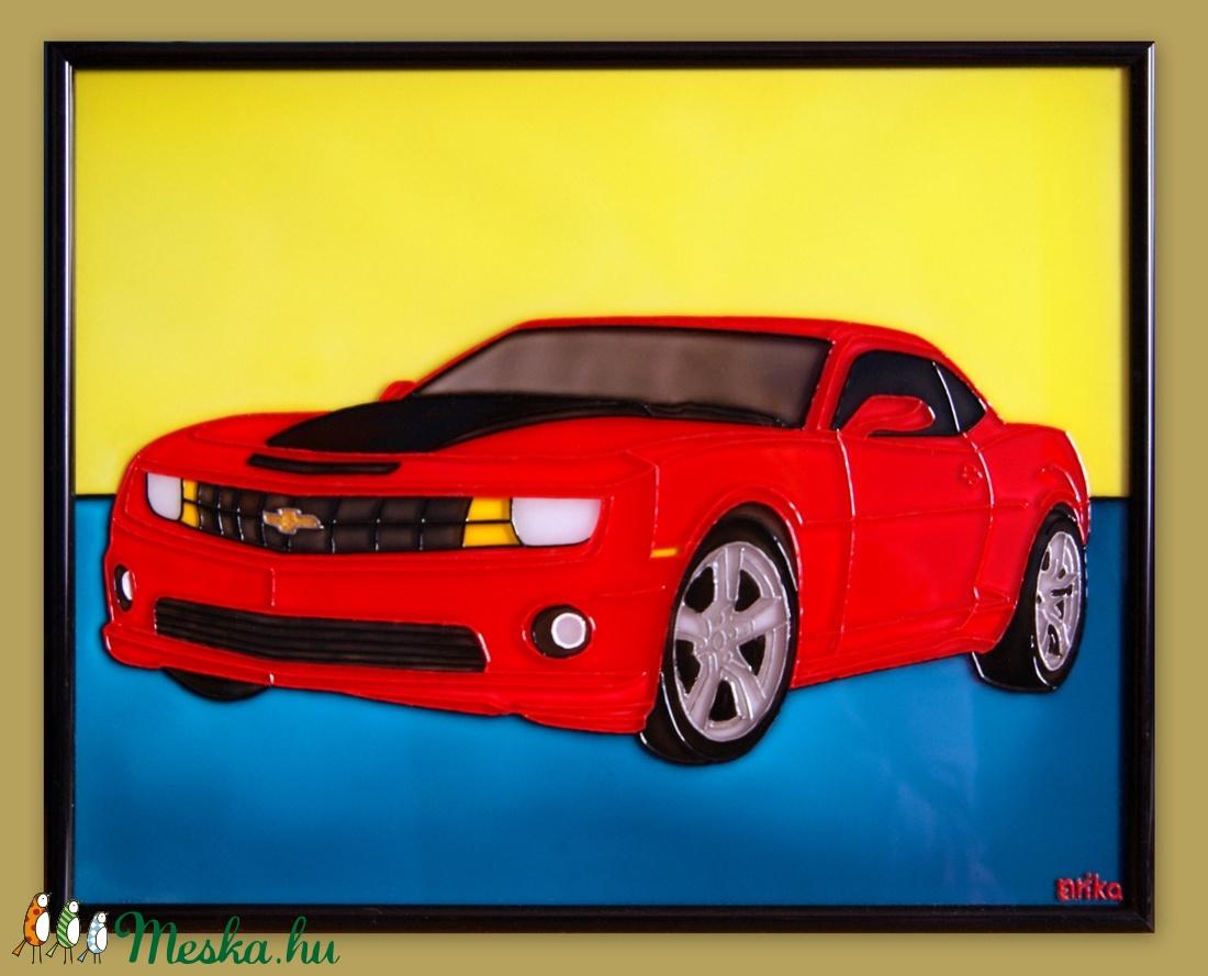 Chevrolet Camaro üvegfestmény (Nerika81) - Meska.hu