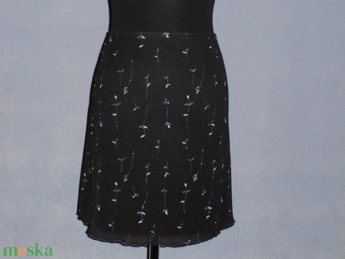 Fekete-ezüstmintás szoknya (nicoledesign) - Meska.hu 10cd6f8895