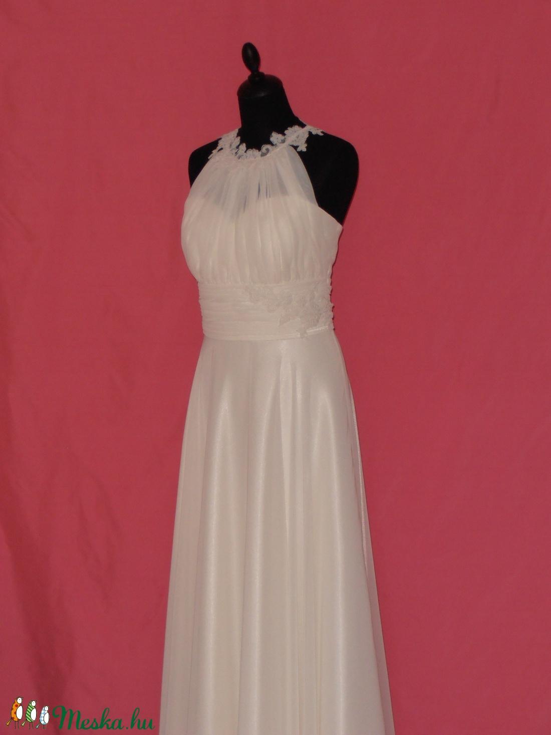 ... Csipkés muszlin menyasszonyi ruha (nicoledesign) - Meska.hu ... 4658650aea