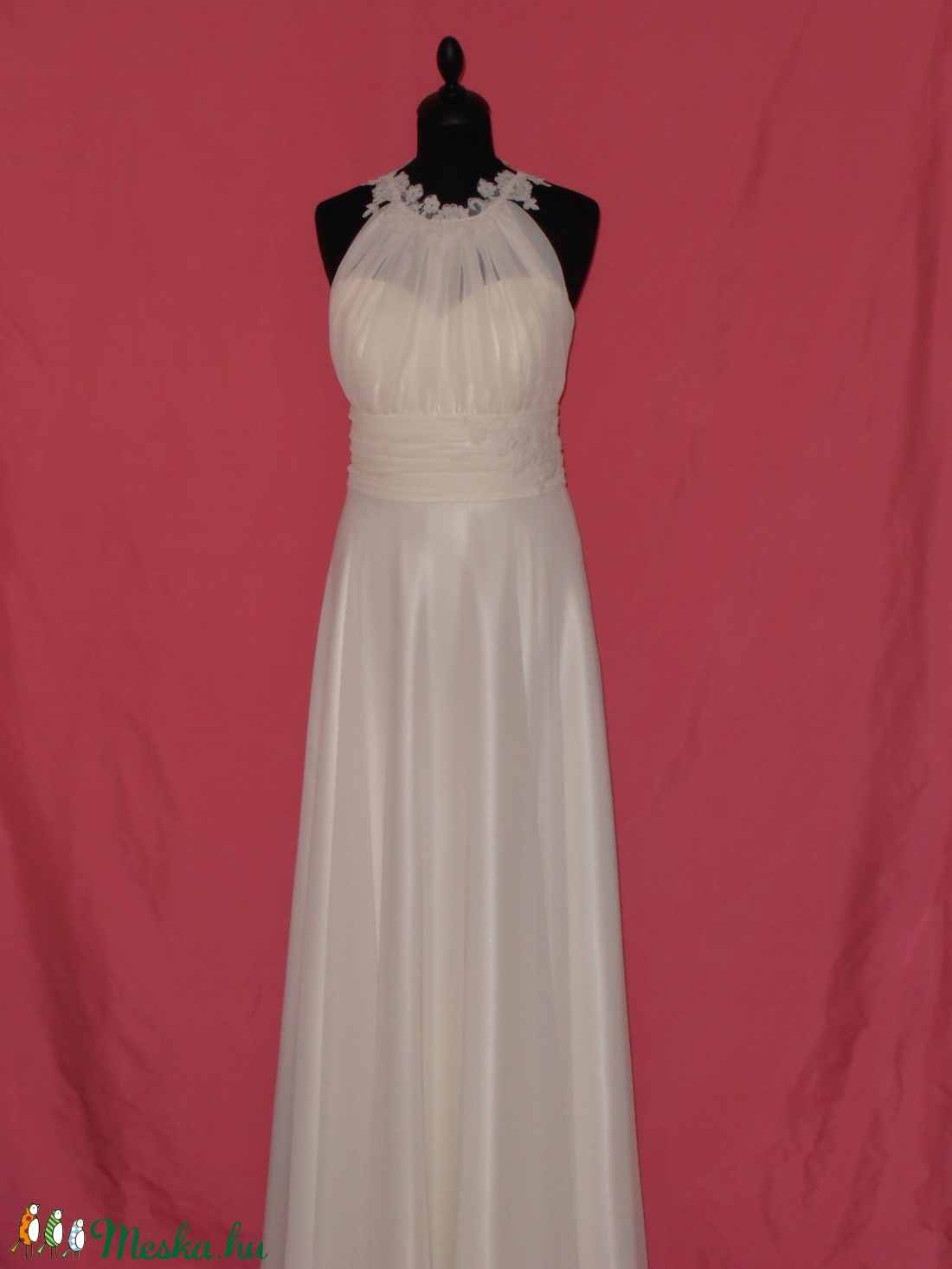 ... Csipkés muszlin menyasszonyi ruha (nicoledesign) - Meska.hu ... 6bbd2dd6e6