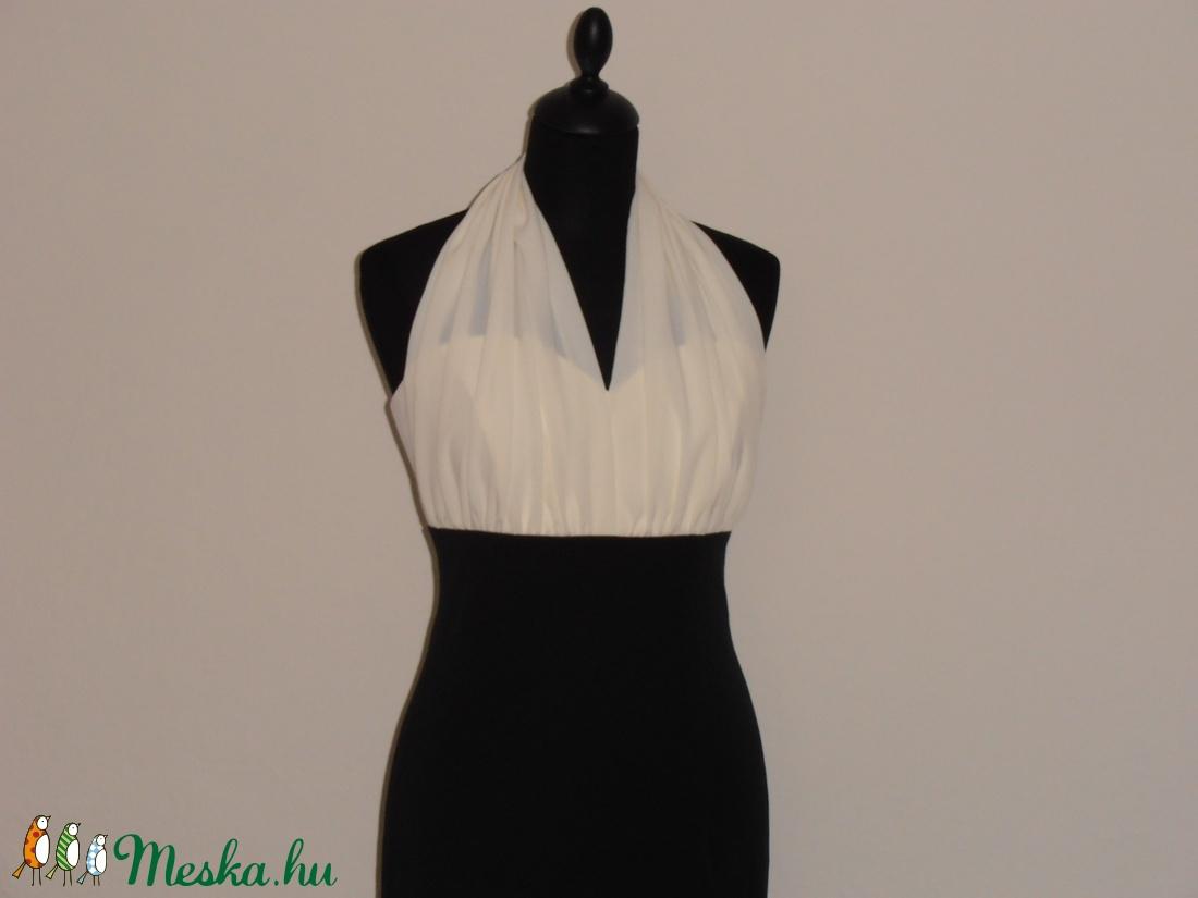 Ekrű-fekete ruha szalagavatóra (nicoledesign) - Meska.hu b0c7c33a62
