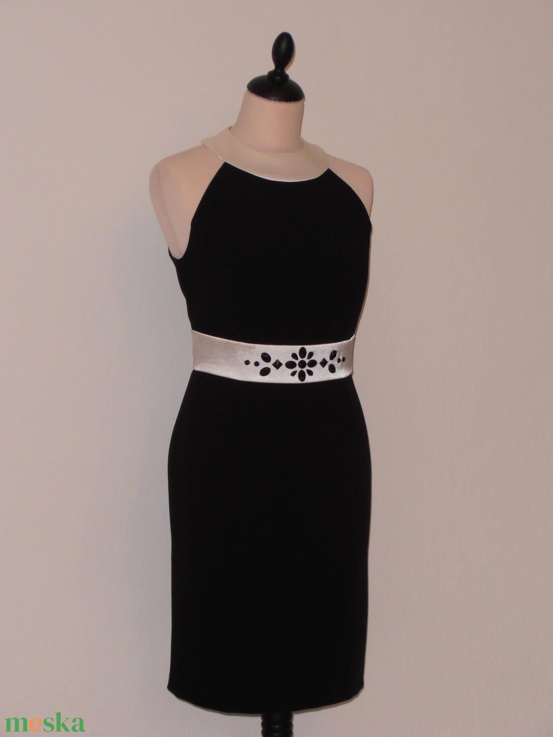 ... Ekrű-fekete alkalmi ruha boleróval (nicoledesign) - Meska.hu ... f8a4a48cf5