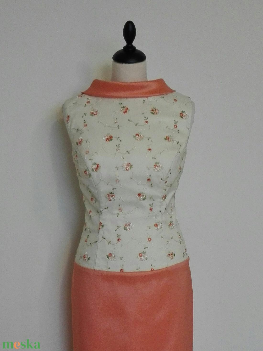 Hosszú hímzett alkalmi ruha (nicoledesign) - Meska.hu 53c820b498