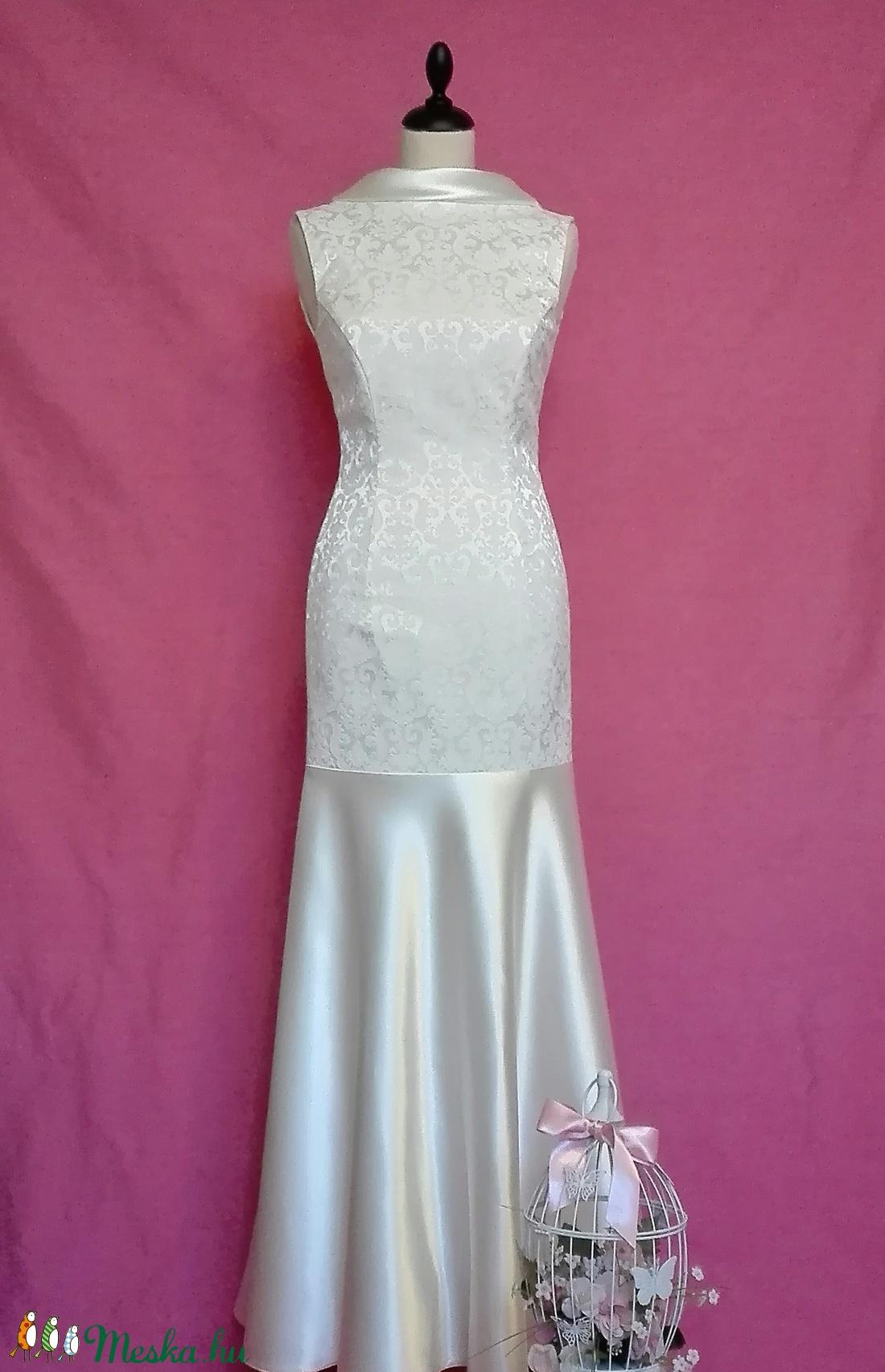 Brokát esküvői ruha (nicoledesign) - Meska.hu 1b6a0dac31