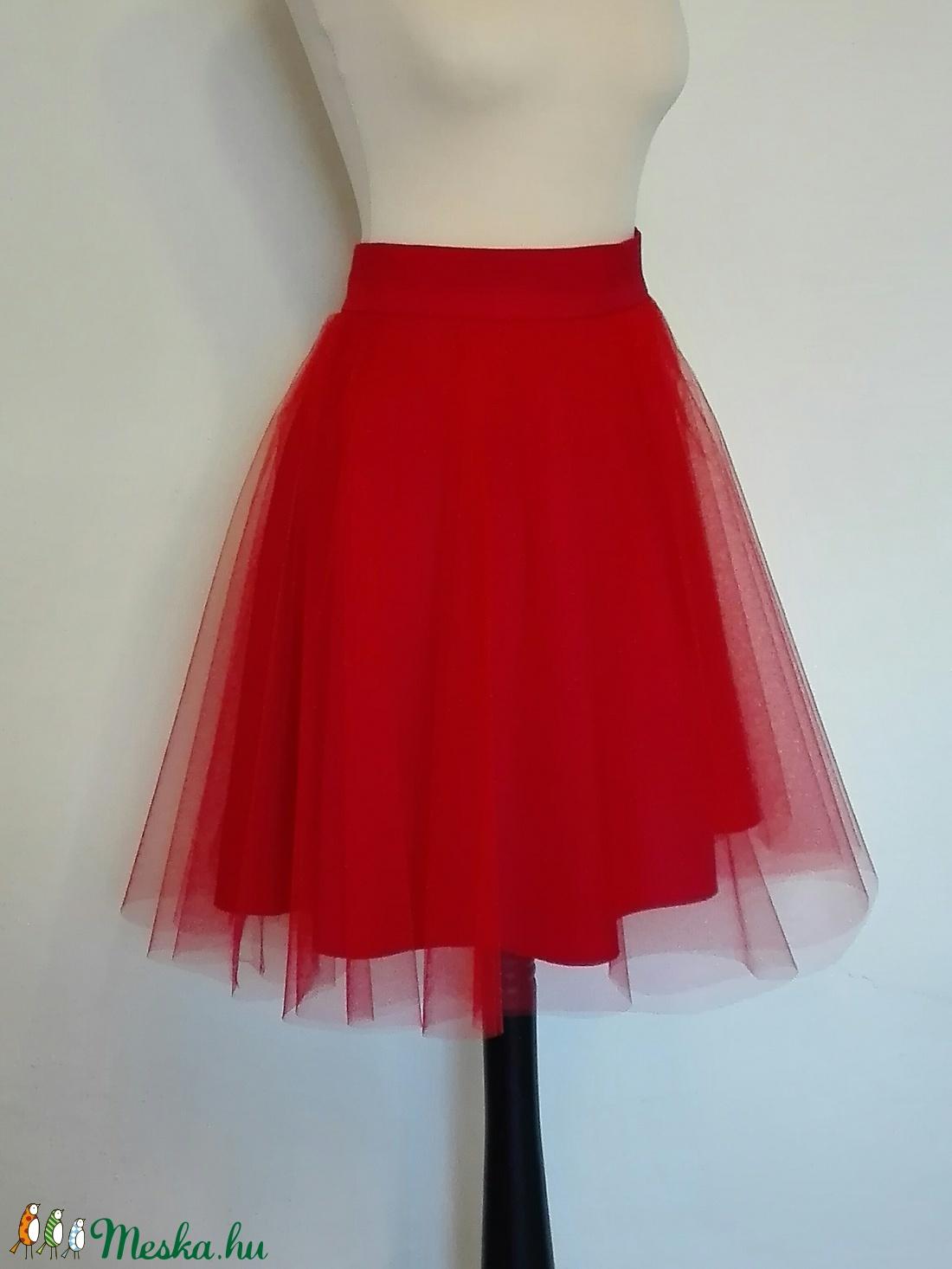 Piros tüll szoknya (nicoledesign) - Meska.hu f78f7523d5
