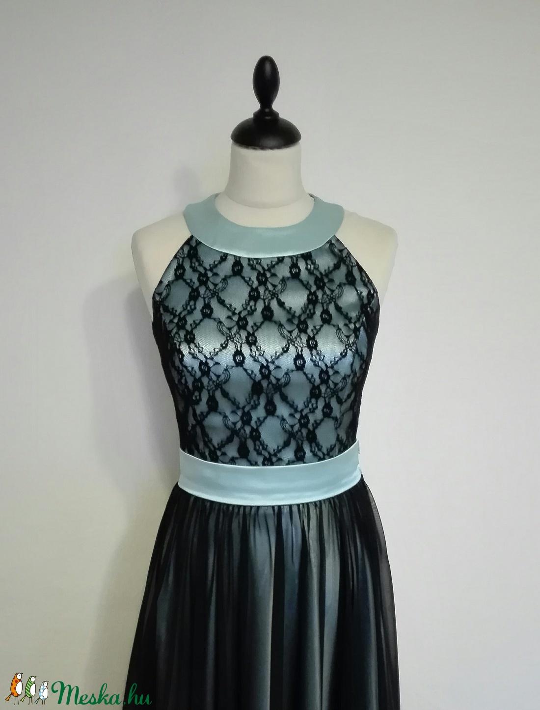 Csipkés hosszú szalagavató ruha (nicoledesign) - Meska.hu 3641fa1cab
