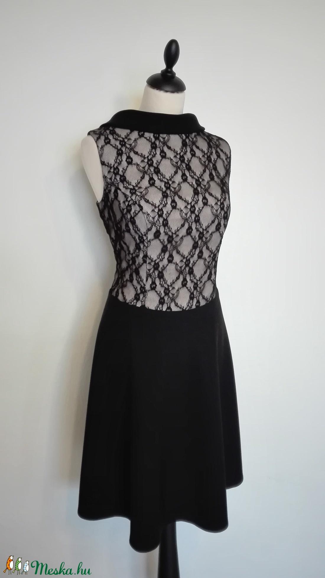 ... Fekete-bézs színű alkalmi ruha szalagavatóra (nicoledesign) ... 98ccb688db