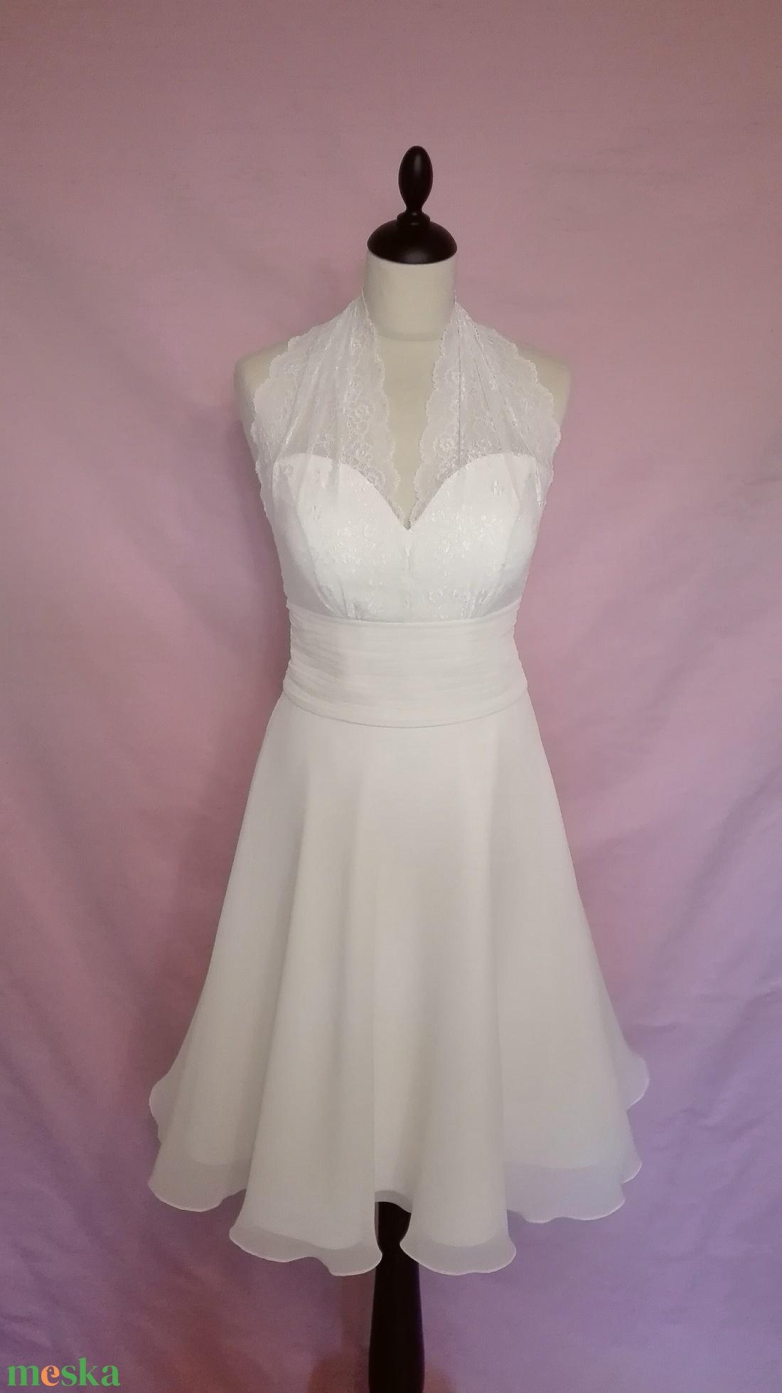 Marylin Monroe jellegű menyasszonyiruha (nicoledesign) - Meska.hu 66ad9cd58a