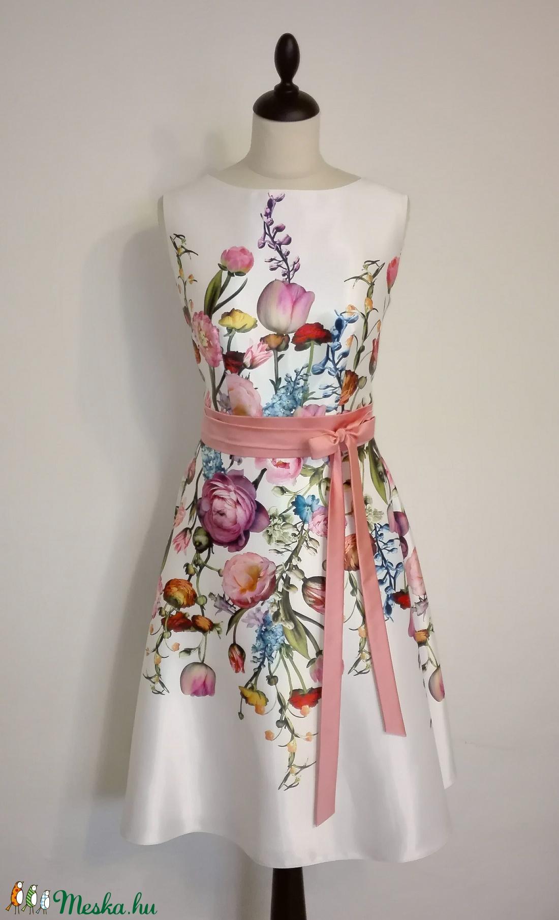 Virág mintás alkalmi ruha (nicoledesign) - Meska.hu af8bc70b37