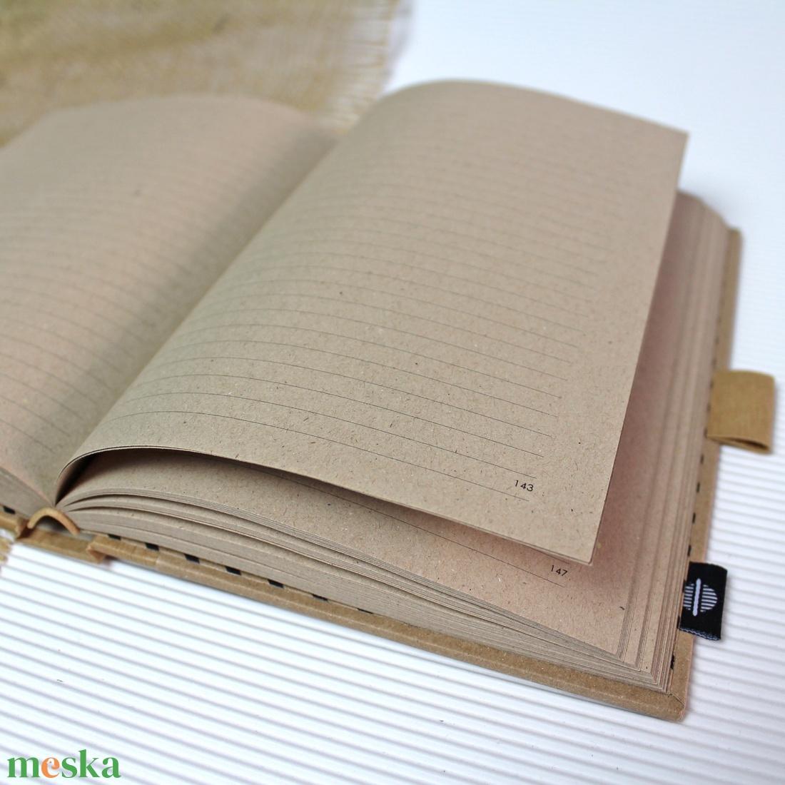 ECO natúr - feliratos vonalas notesz - otthon & lakás - papír írószer - jegyzetfüzet & napló - Meska.hu