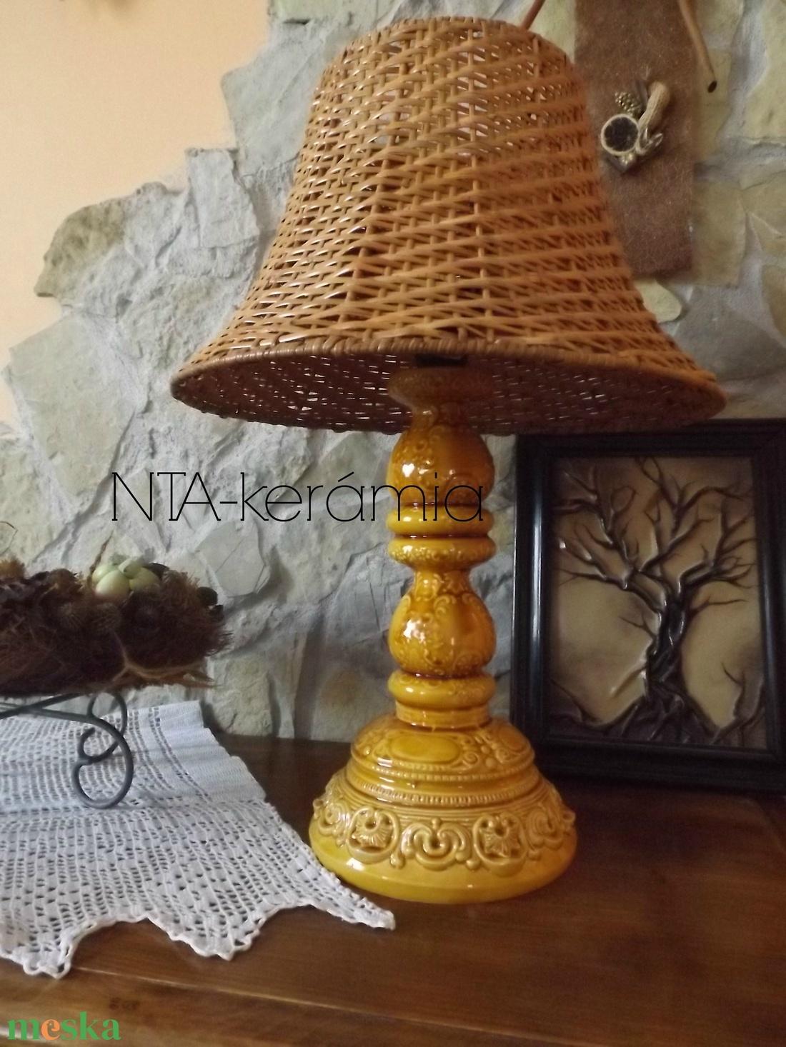 Méz-Napfény-csipkés- romantikus-egyedi kerámia lámpaváza - otthon & lakás - lámpa - asztali lámpa - Meska.hu