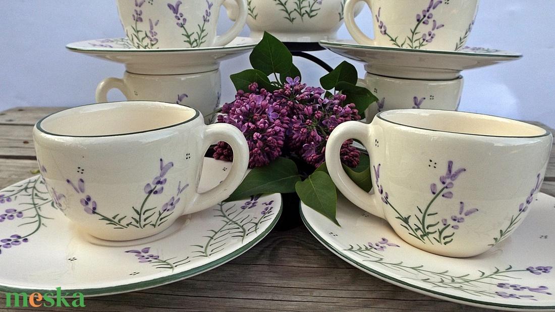 Levendula szerelem... kávés csészék - otthon & lakás - konyhafelszerelés - bögre & csésze - Meska.hu