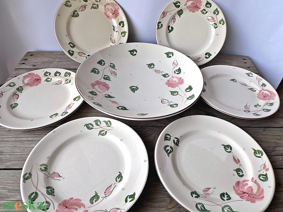 Rózsás-romantikusan sütizni ünnep és hétköznapokon is - otthon & lakás - konyhafelszerelés - tányér & étkészlet - Meska.hu