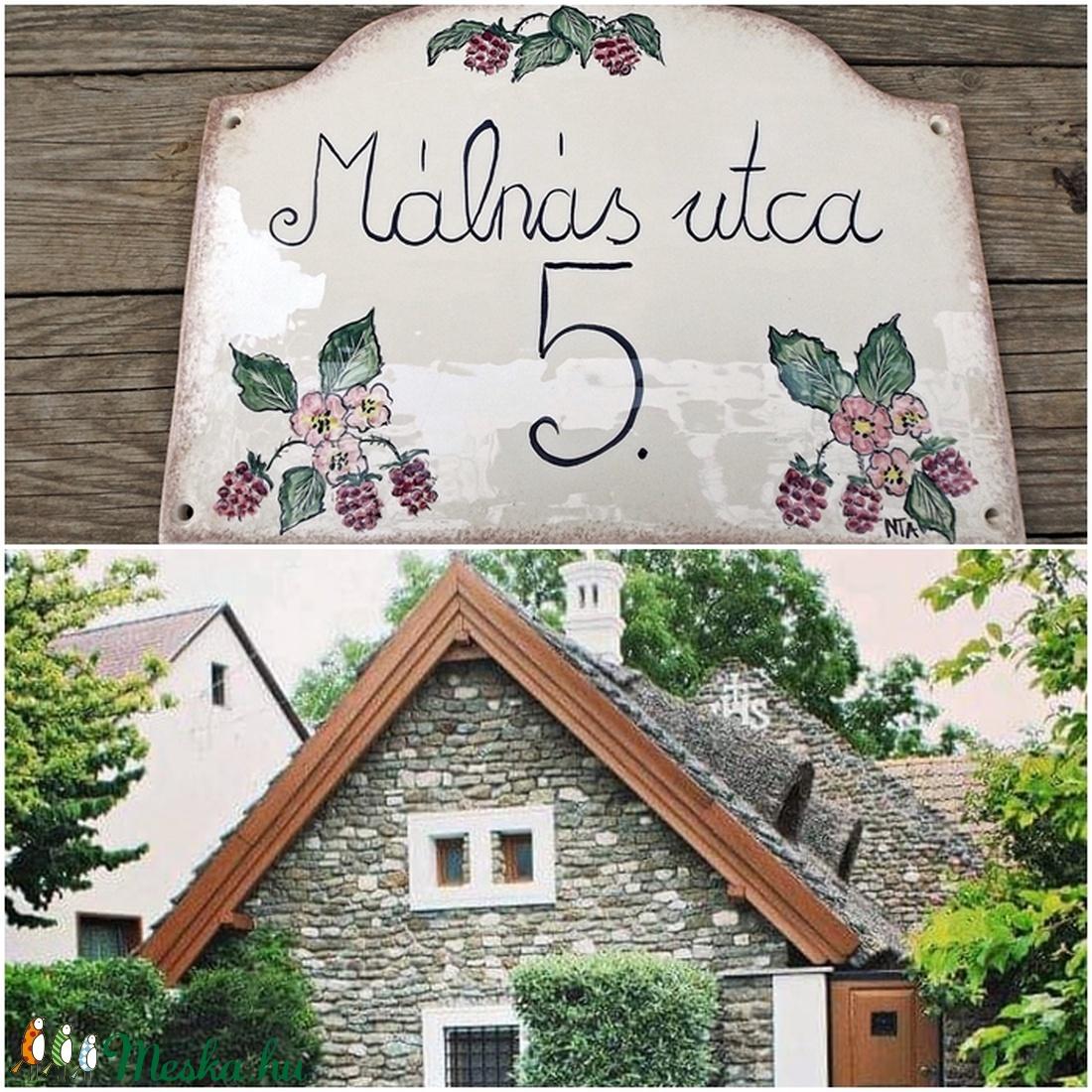 Egyedi kerámia utcanévtábla  - otthon & lakás - ház & kert - házszám - Meska.hu