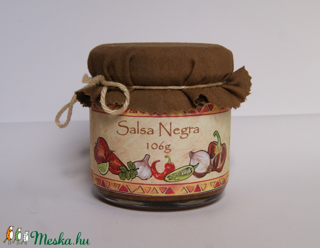 Salsa Negra - Chilis fűszerkrém - 106g (InyencChilikert) - Meska.hu