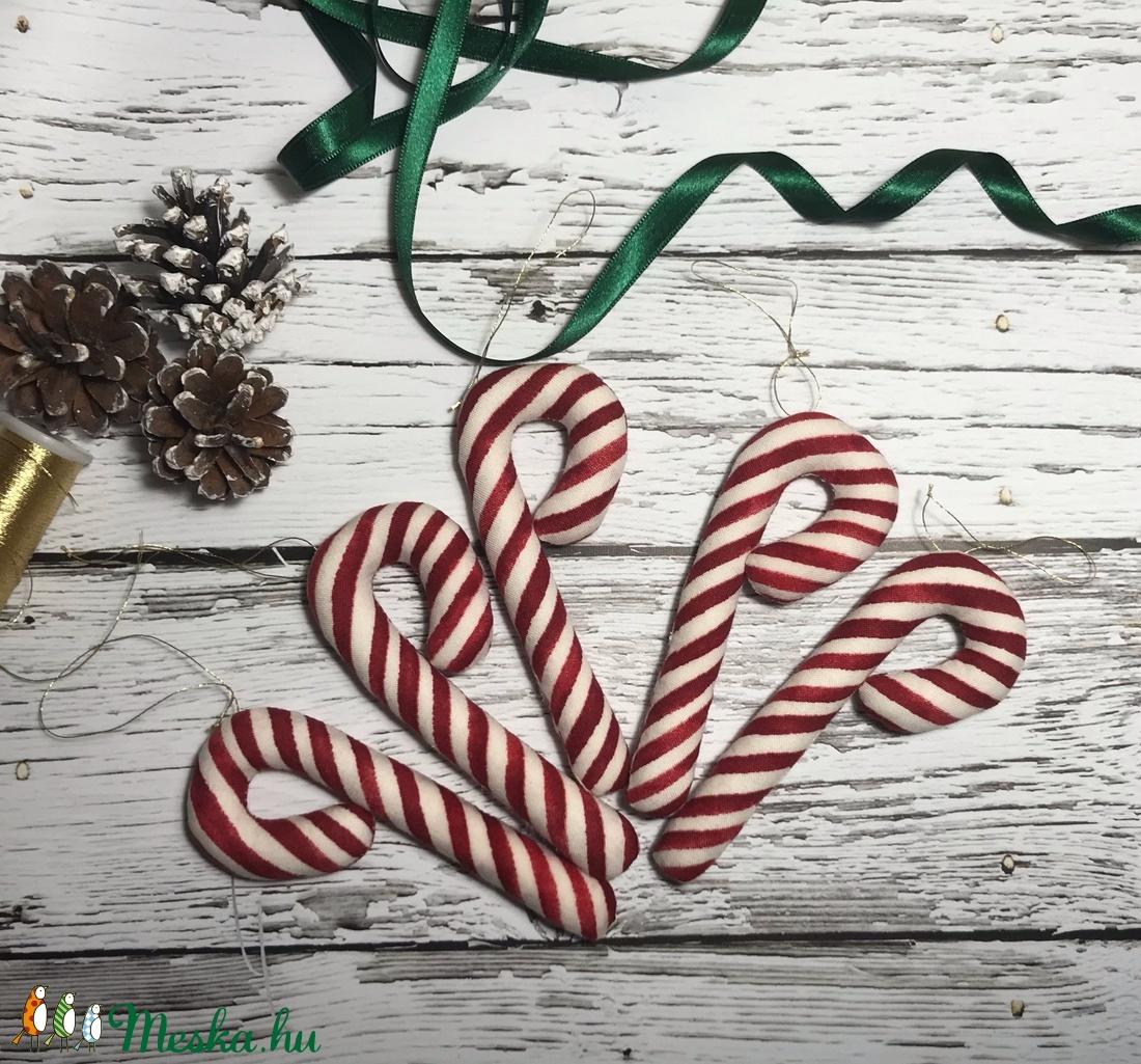 cukorpálca , Candy Cain.  - karácsony - karácsonyi lakásdekoráció - karácsonyfadíszek - Meska.hu
