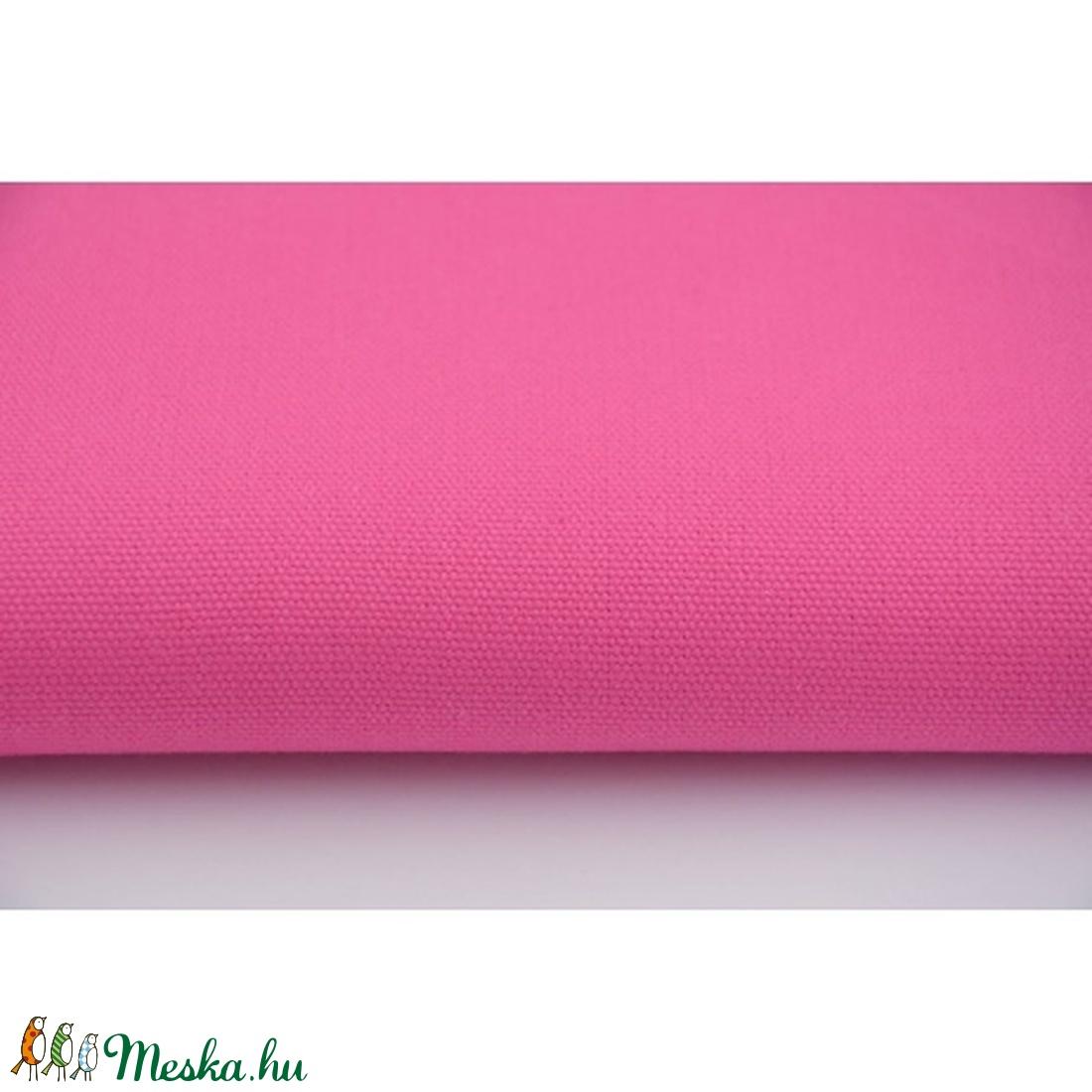 Pink színű vastagabb vászon anyag - sötétebb rózsaszín vászon - home decor lakástextil (OdorsHome) - Meska.hu