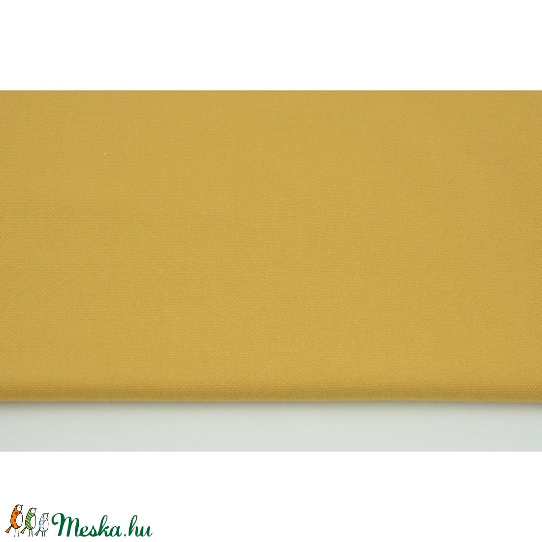 Mustársárga színű vastagabb vászon anyag - home decor lakástextil (OdorsHome) - Meska.hu