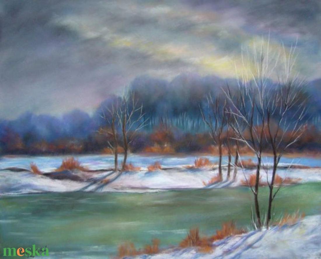 Hideg fények, pasztell festmény (Oildiko) - Meska.hu