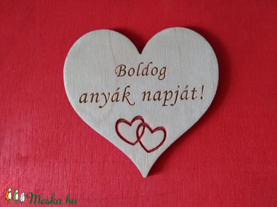 Anyák napi fa szív hűtőmágnes (OktaDesign) - Meska.hu