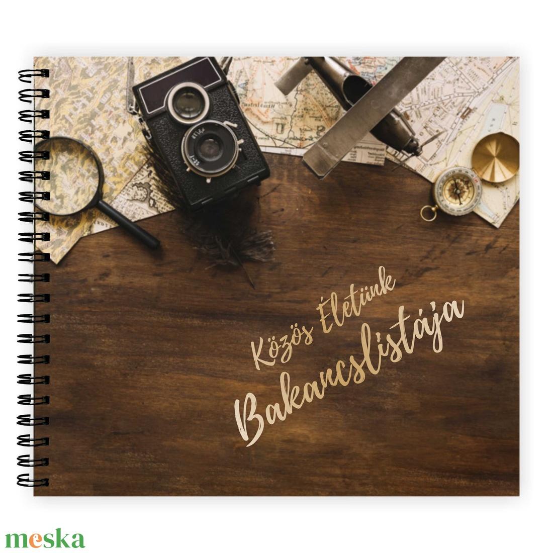 PÁRODNAK - Ajándék Férfiaknak / Ajándék Nőknek Közös Életünk Bakancslistája - ajándék album / célkitűző napló - 21x19cm - esküvő - emlék & ajándék - album & fotóalbum - Meska.hu