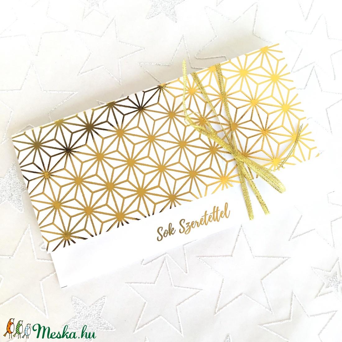 Pénzátadó boríték / ARANYOZOTT pénz átadó ajándék kártya - nászajándék átadó boríték / Születésnapra / névnapra - otthon & lakás - papír írószer - boríték - Meska.hu
