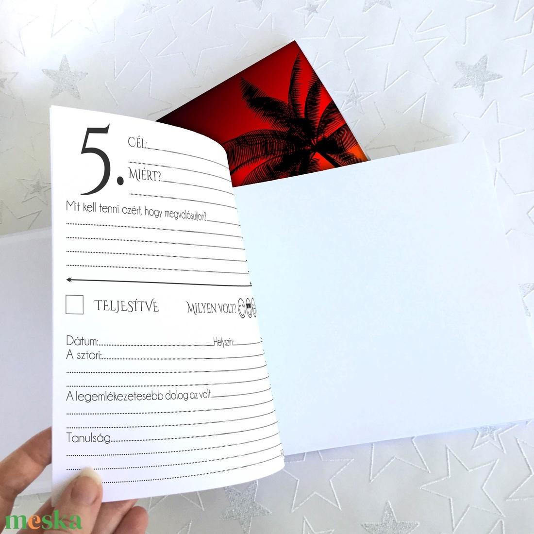 Névre szóló Bakancslista napló - Emlékkönyv - ajándék KARÁCSONYRA / születésnapra /  napló - 21x19cm Sunset 2020 - otthon & lakás - papír írószer - könyv - Meska.hu