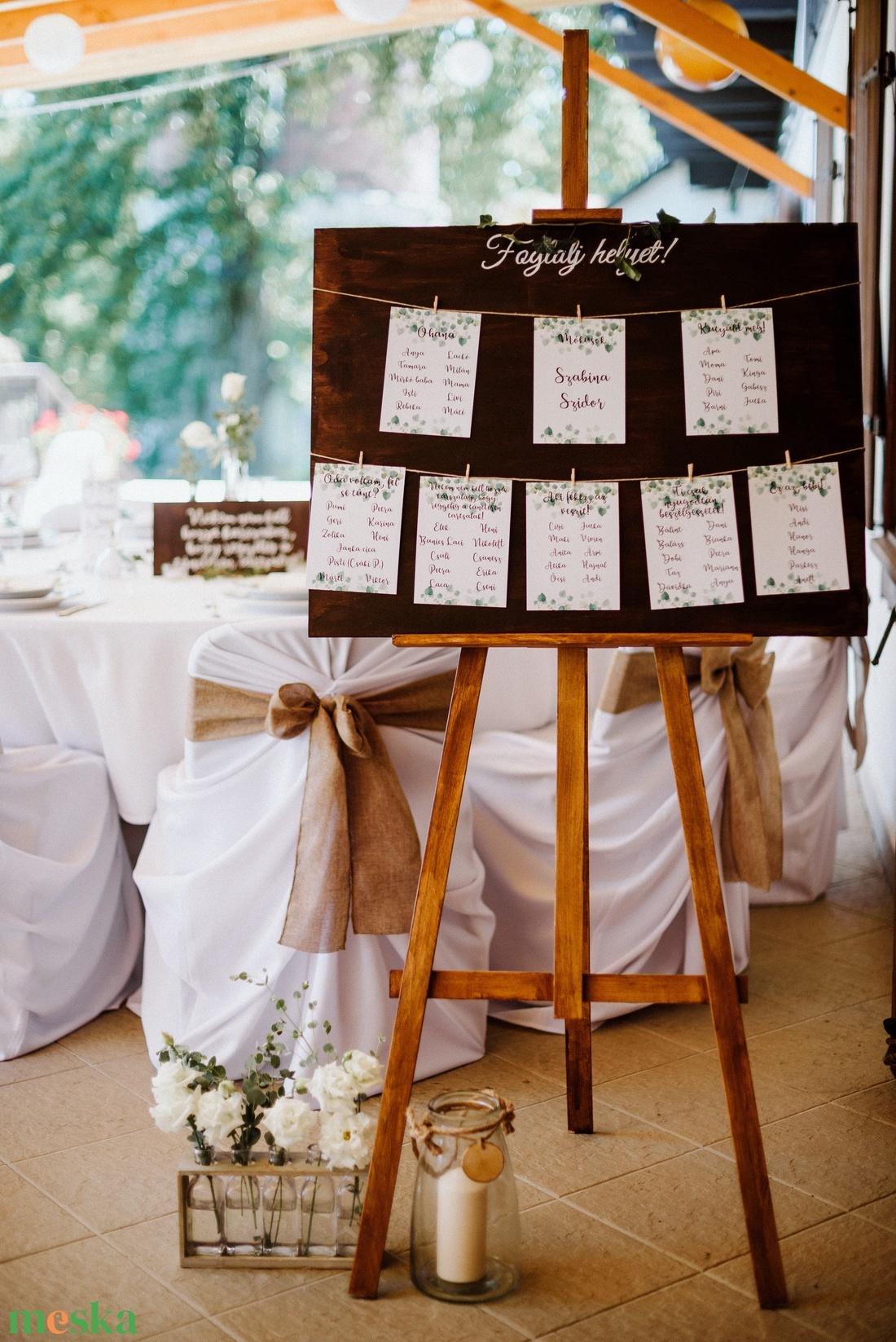 Ültetési rend fatábla - esküvő - meghívó & kártya - ültetési rend - Meska.hu