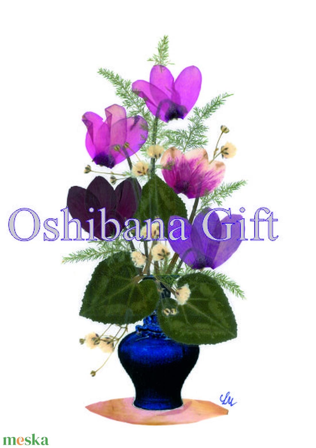 10 db Üdvözlőlap, préselt virág nyomat, ajándék,  - Meska.hu