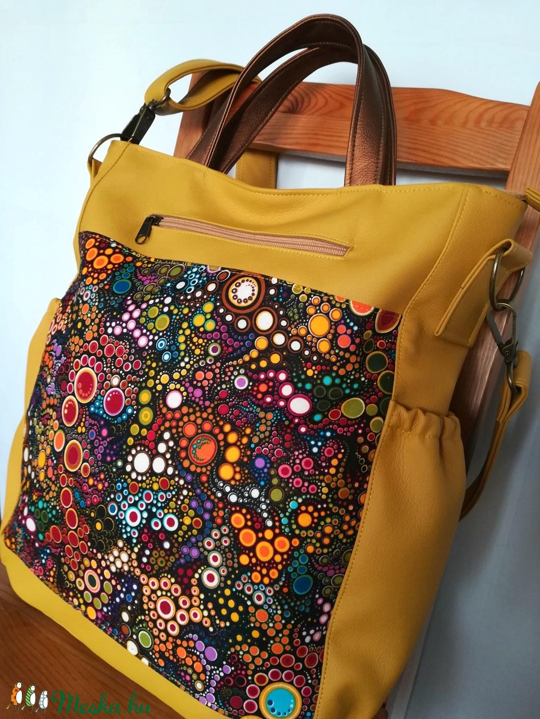 Mustár textilbőr többfunkciós válltáska hátizsák (pajudo) - Meska.hu eab25f6cb7