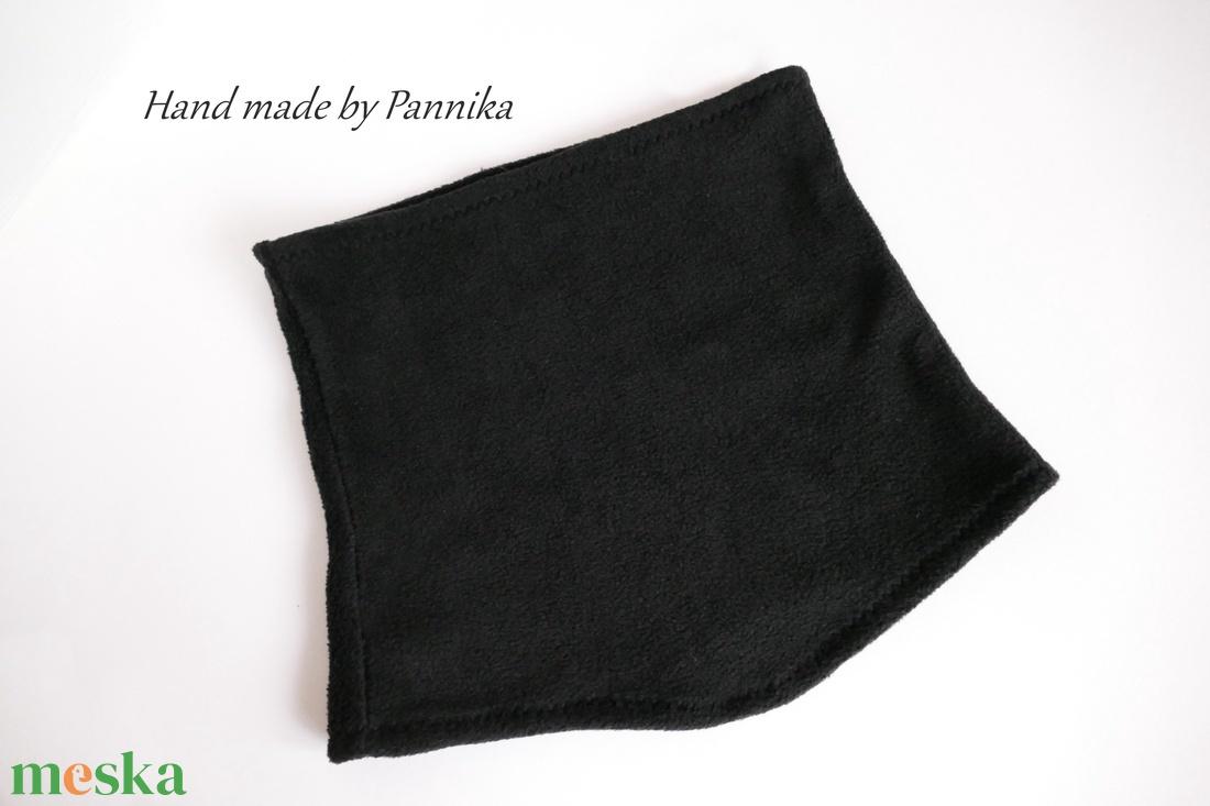 Akció!! 3200Ft helyett!! Fekete nyakmelegítő, forma sál fiúknak is  - ruha & divat - sál, sapka, kendő - sál - Meska.hu