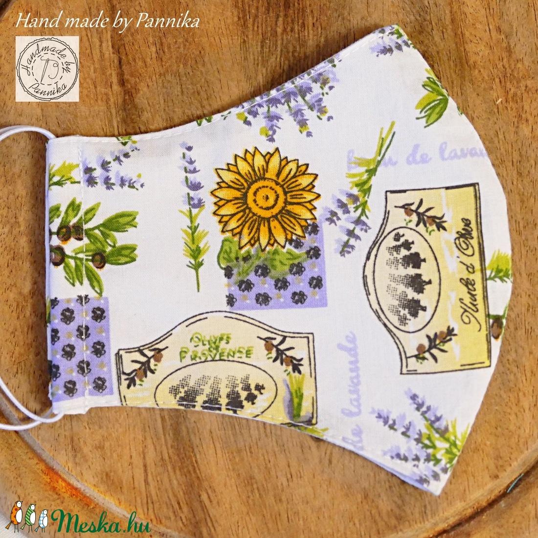 AKciÓ 1700 helyett!! Szájmaszk (Provence) Levendula mintákkal  ARCFORMÁRA SZERKESZTVE!  - maszk, arcmaszk - női - Meska.hu