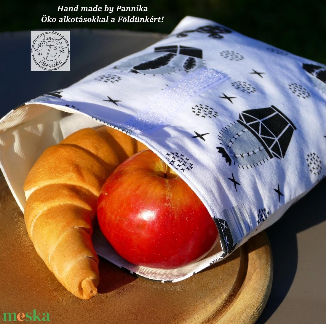Roll top Uzsonnás, frissentartó tasak (kaktusz)  szendvicstartó, neszesszer zerowaste tároló - ovi- és sulikezdés - uzsonna- & ebéd tartó - szendvics csomagoló - Meska.hu